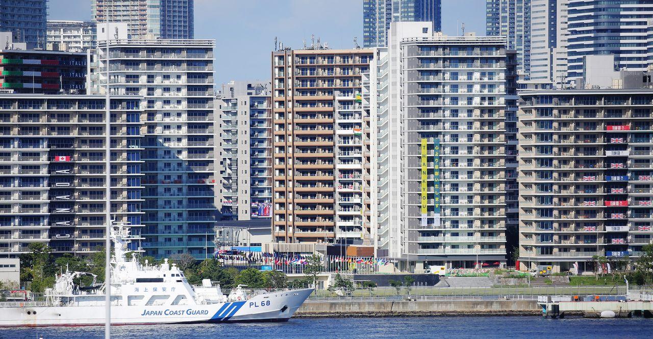 位於東京都中央區的東京奧運帕運選手村(17日,時事)