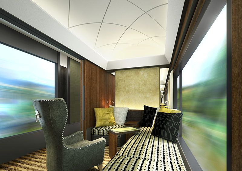 A rendering of a guest room on JR West's new sleeper train. The train will feature three guest rooms per carriage. (Image courtesy of JR West.)