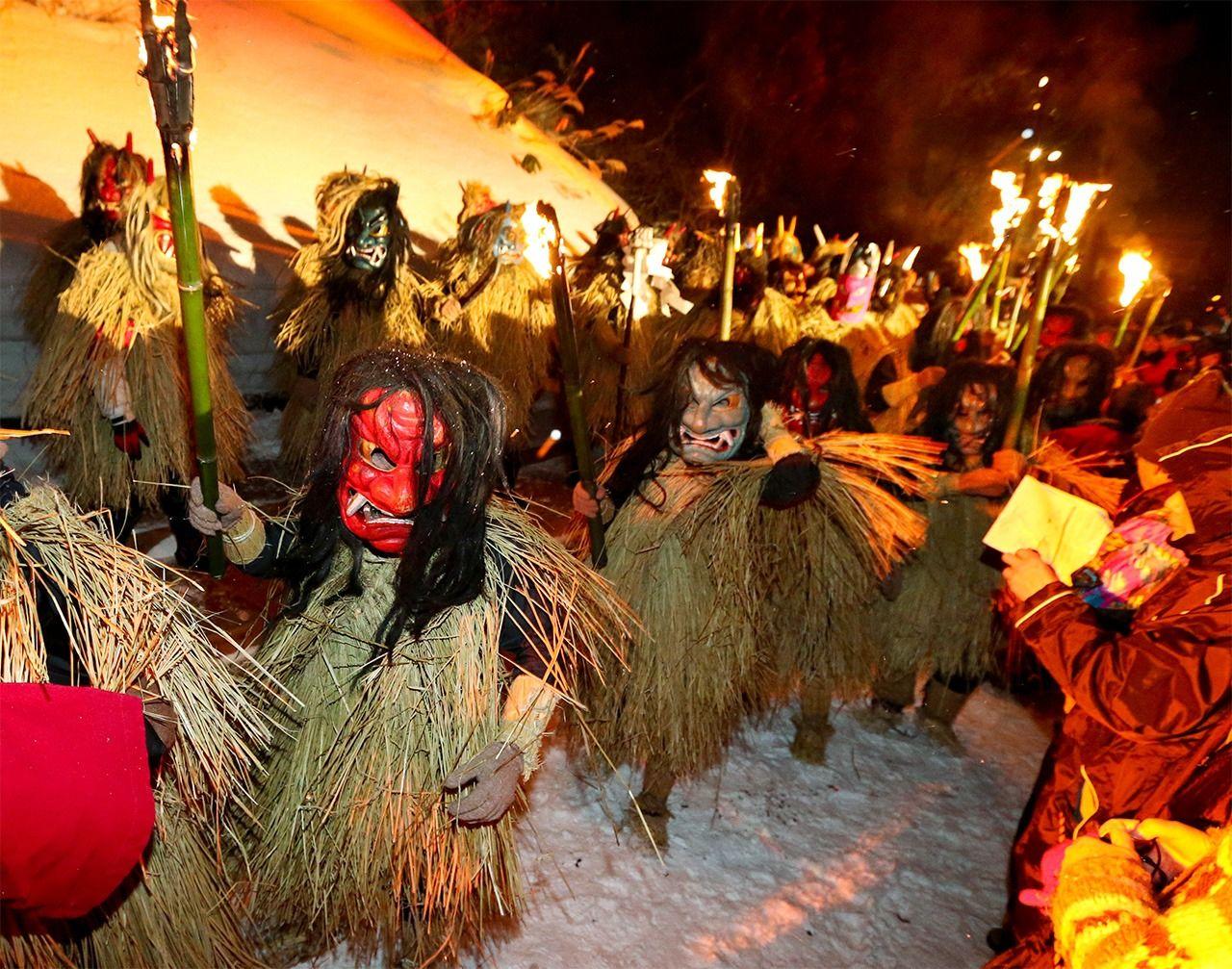 Festival Oga no Namahage. (© Jiji)