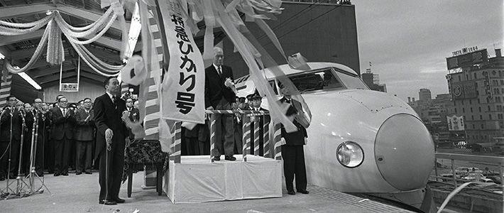 Perilisan Shinkansen Seri 0 pada 1 Oktober 1964