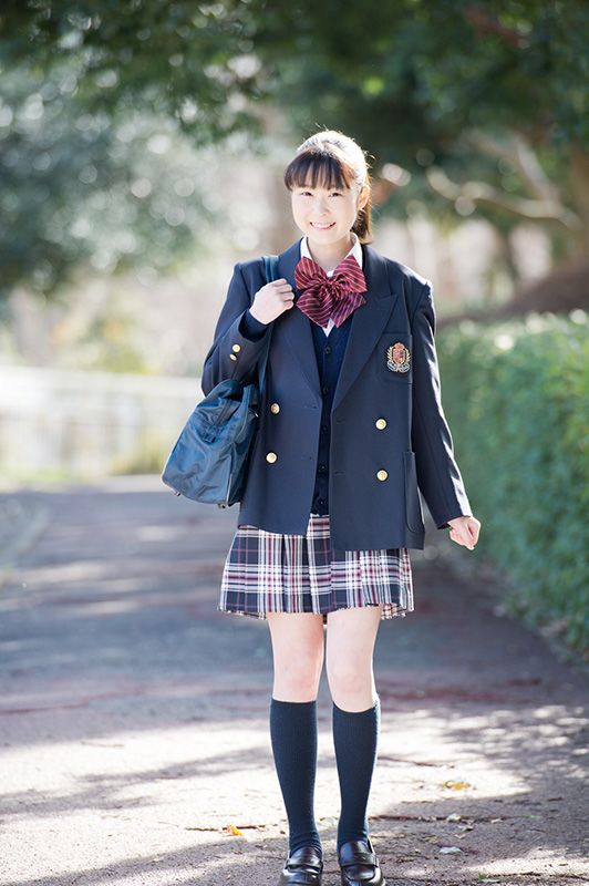 7109d6e0450 A girl s blazer-style uniform.