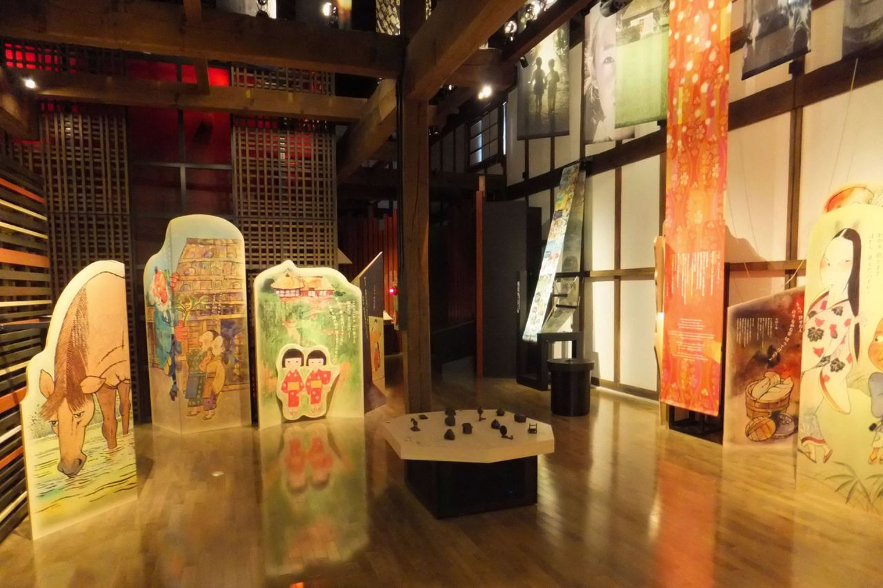 At the Mukashi-banashi-gura, visitors are treated to audio and video presentations of Japanese folktales. (Courtesy of the Tōno Folktale Museum)