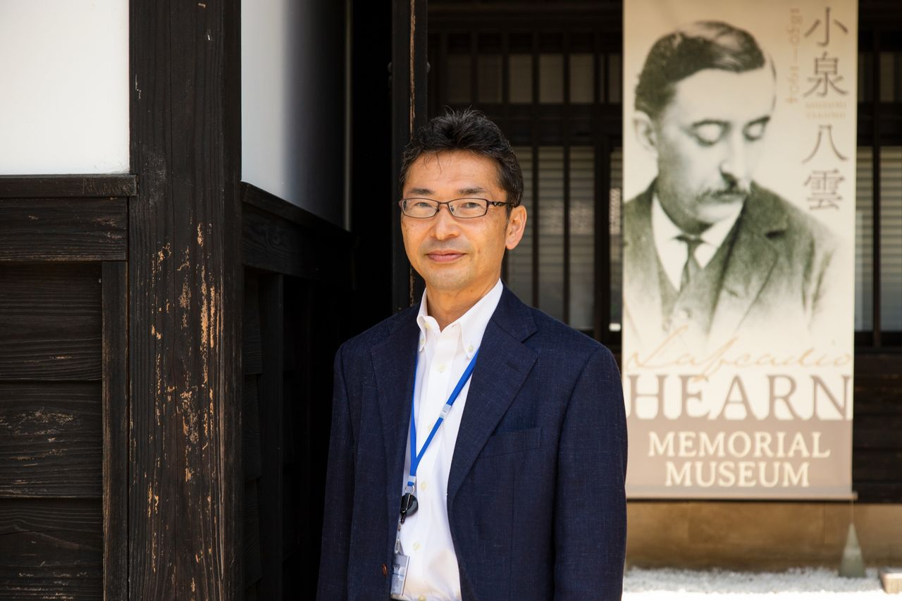 Koizumi Bon, great-grandson of Hearn and Setsu, and curator of the Hearn Memorial Museum.
