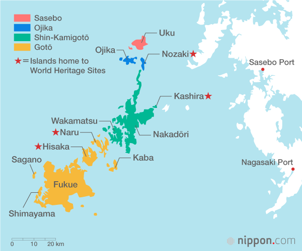 Nagasaki On World Map.Touring Nagasaki S Gotō Islands By Boat Nippon Com