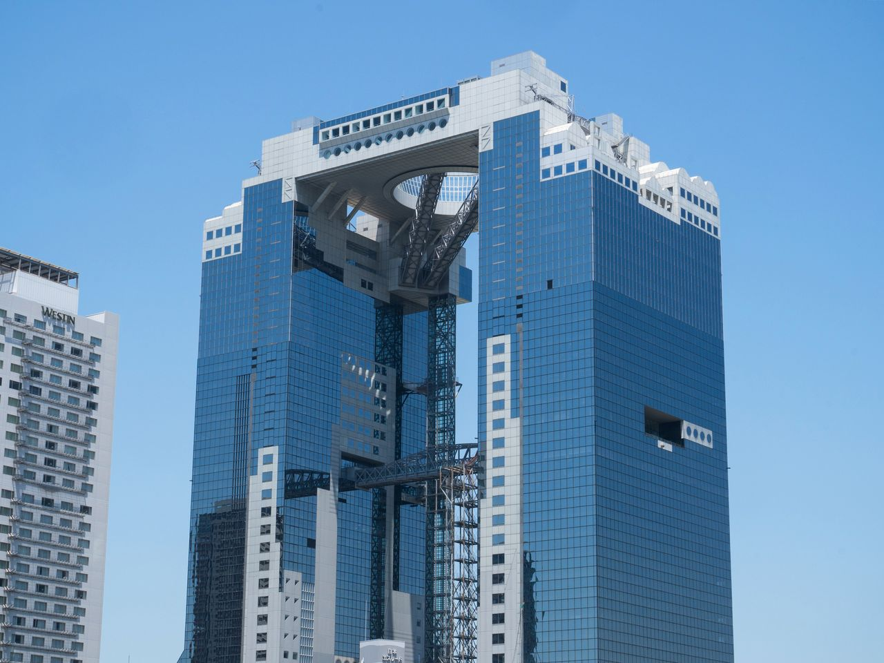 The Umeda Sky Building Floating Garden observatory is a hit with overseas visitors.