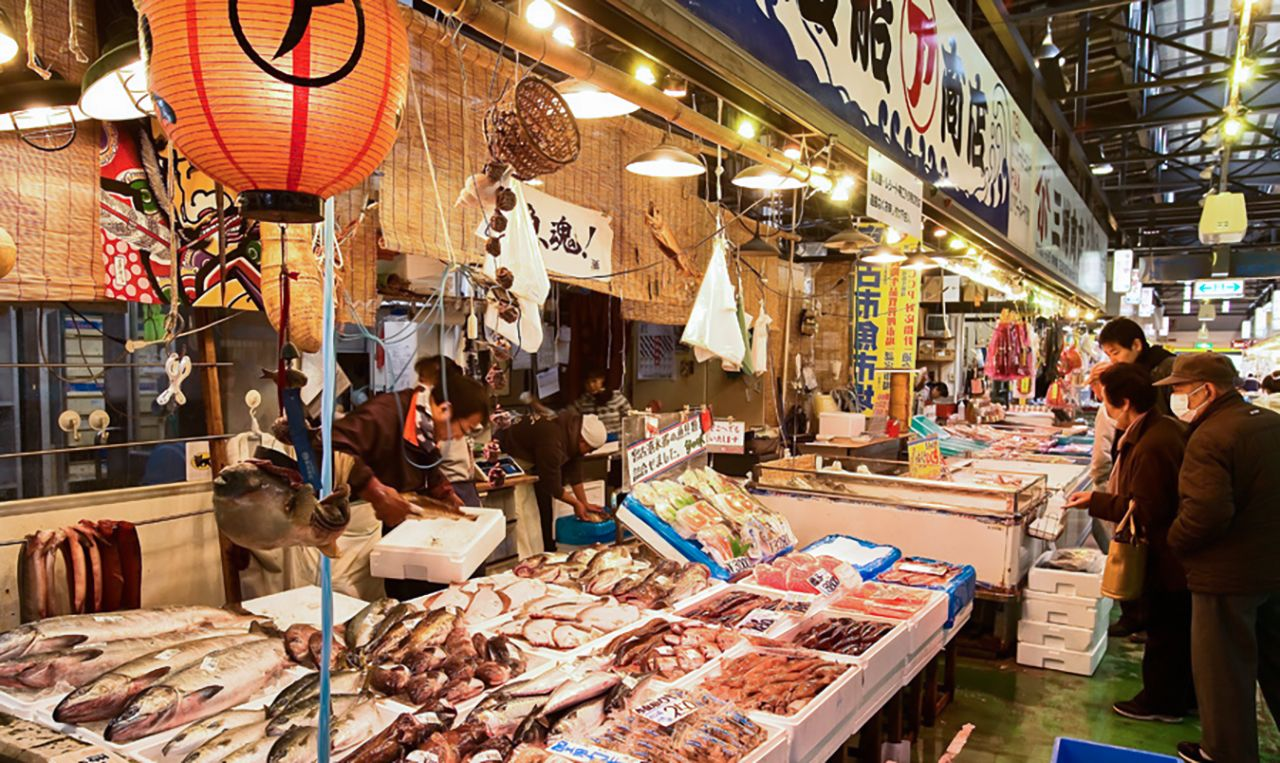 Miyako Fish Market bustles with regulars and tourists on the prowl for local delicacies. (Courtesy Iwate Tourism Association)