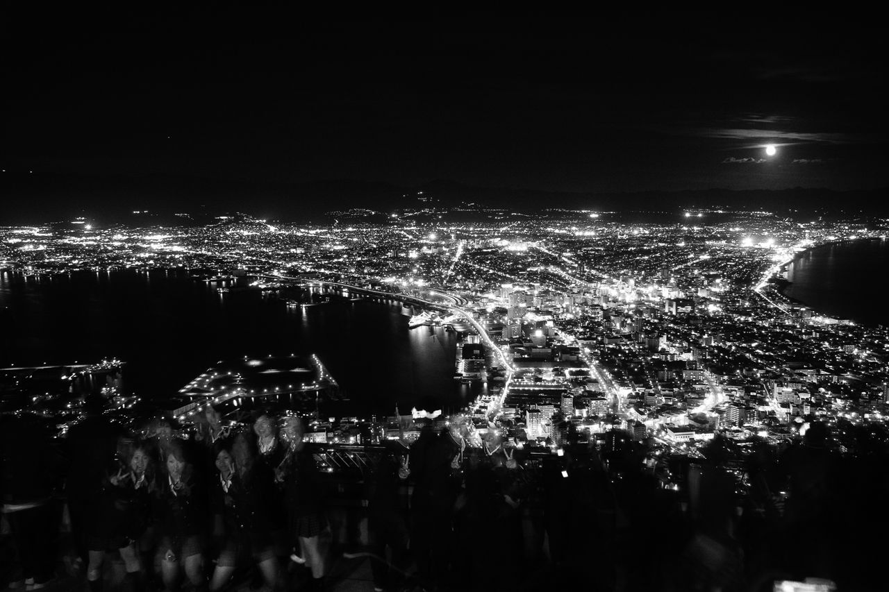 The view from Mount Hakodate by night (2005).