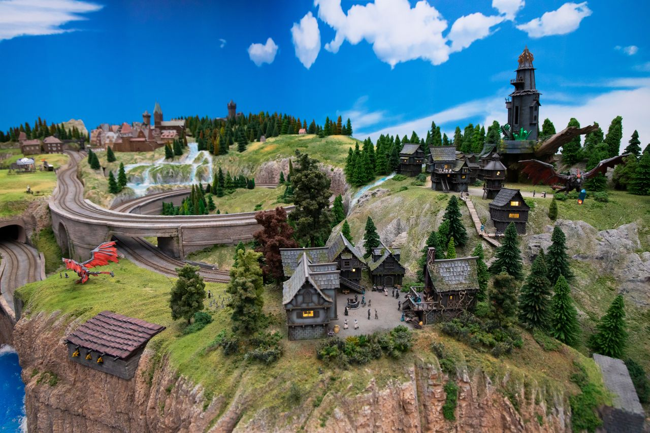 The Global Village is a fantasy world including dragons and other magical beasts.