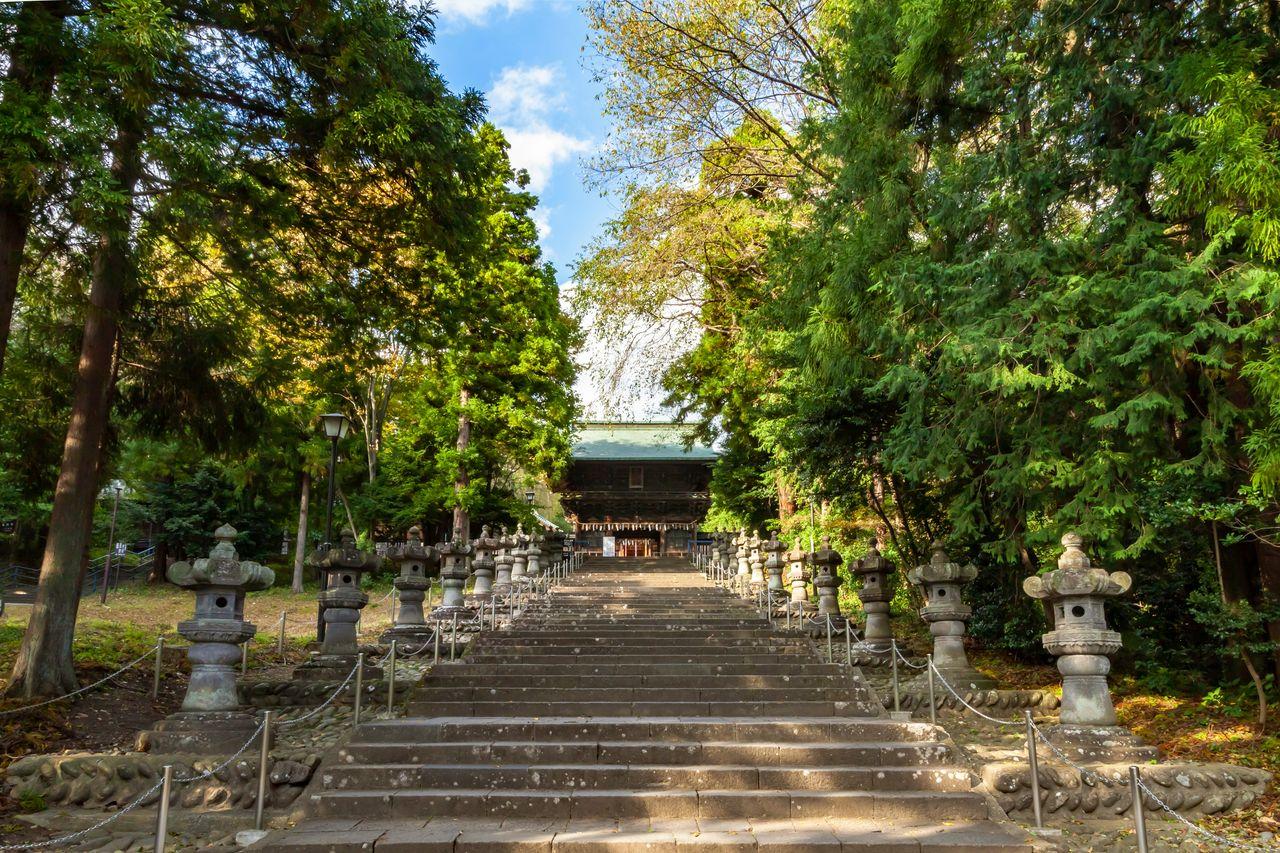 Gerbang Zuijinmon ditetapkan sebagai properti budaya penting. (Atas izin dari Pariwisata Sendai, Konvensi, dan Asosiasi Internasional)