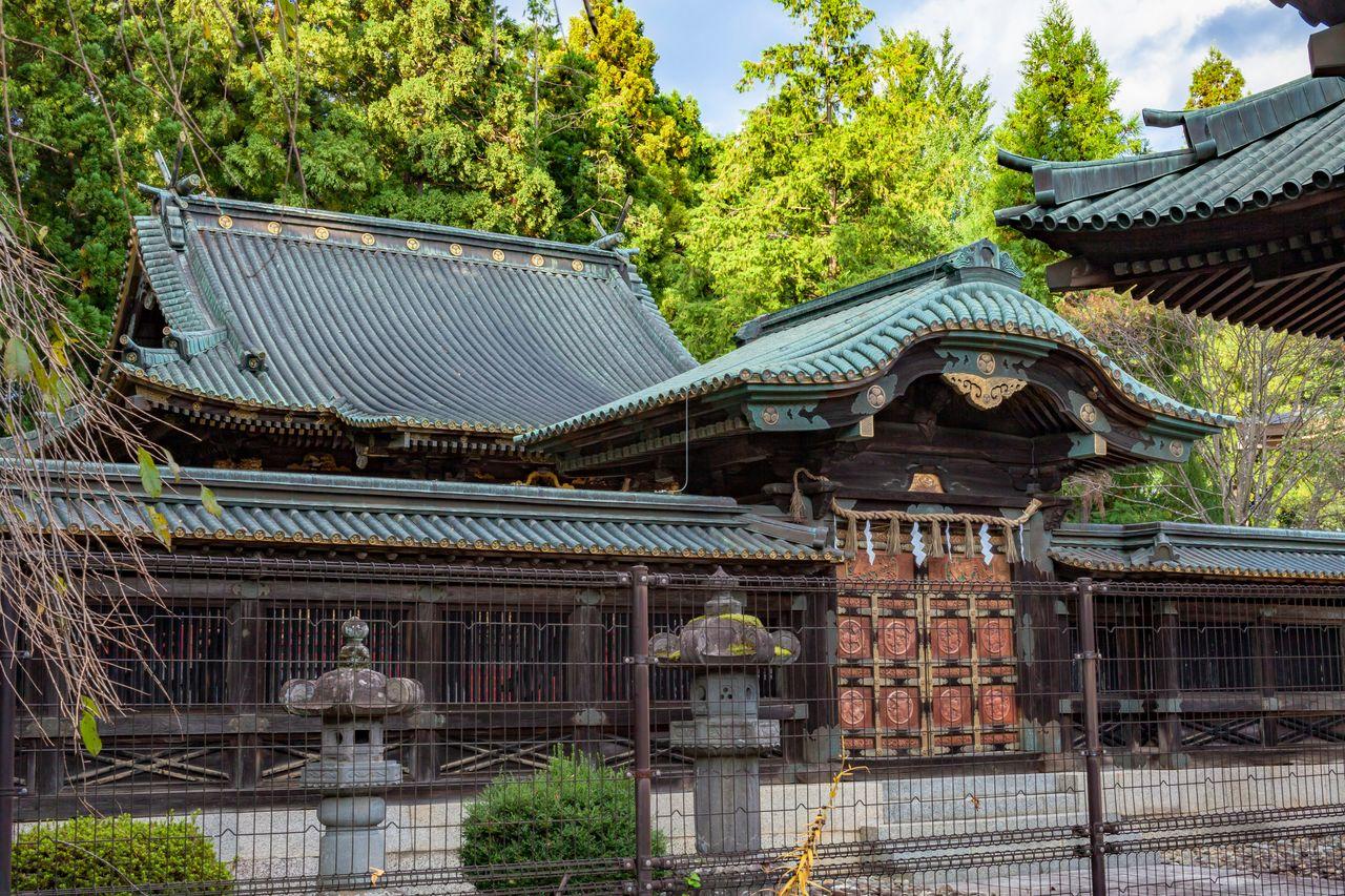 Gerbang bergaya Karamon di belakang aula ibadah. (Atas izin dari Pariwisata Sendai, Konvensi, dan Asosiasi Internasional)