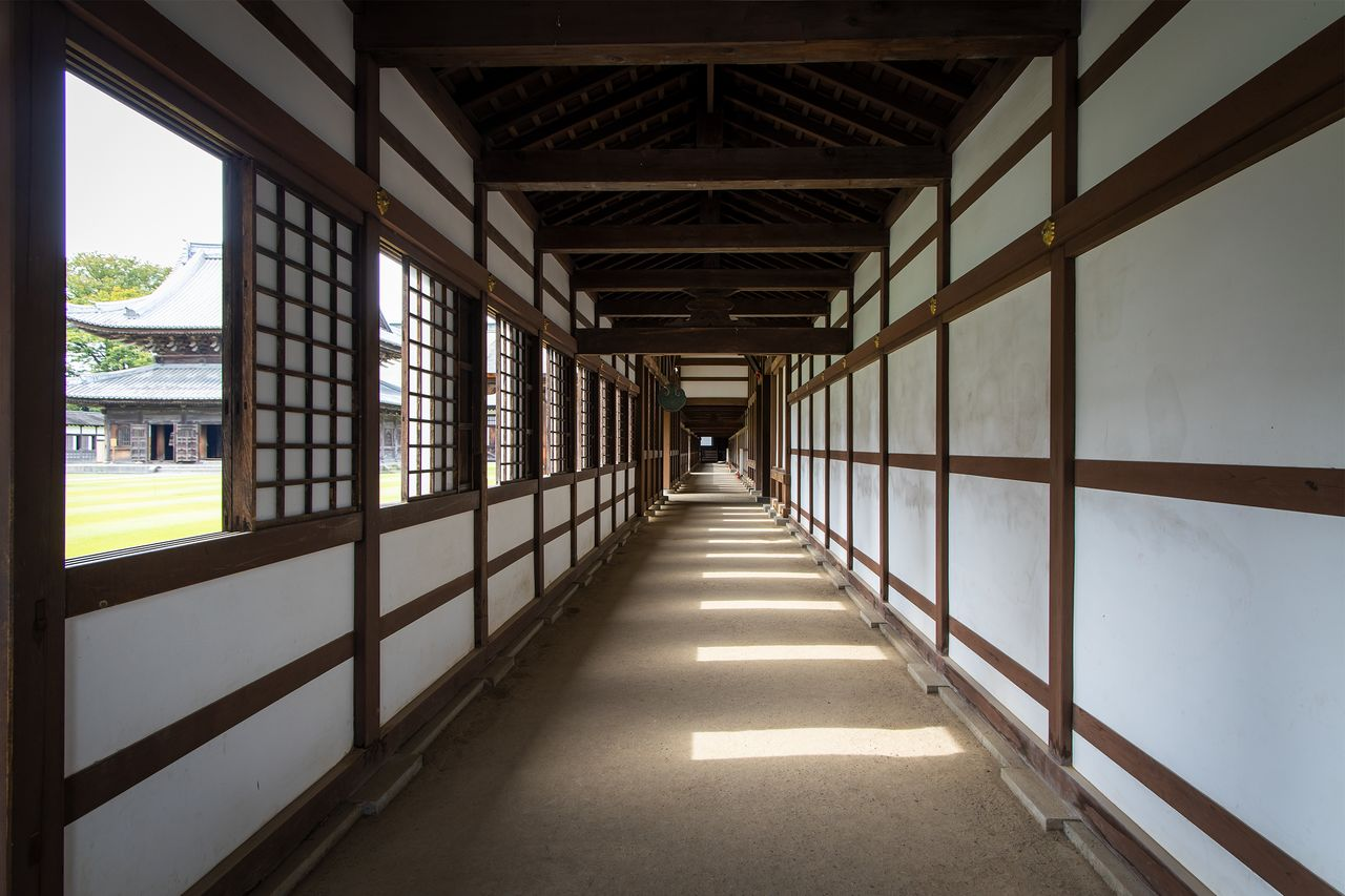 The temple's corridors extend 300 meters in total.