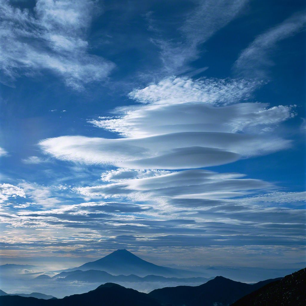 Clouds above Mount Fuji (June)