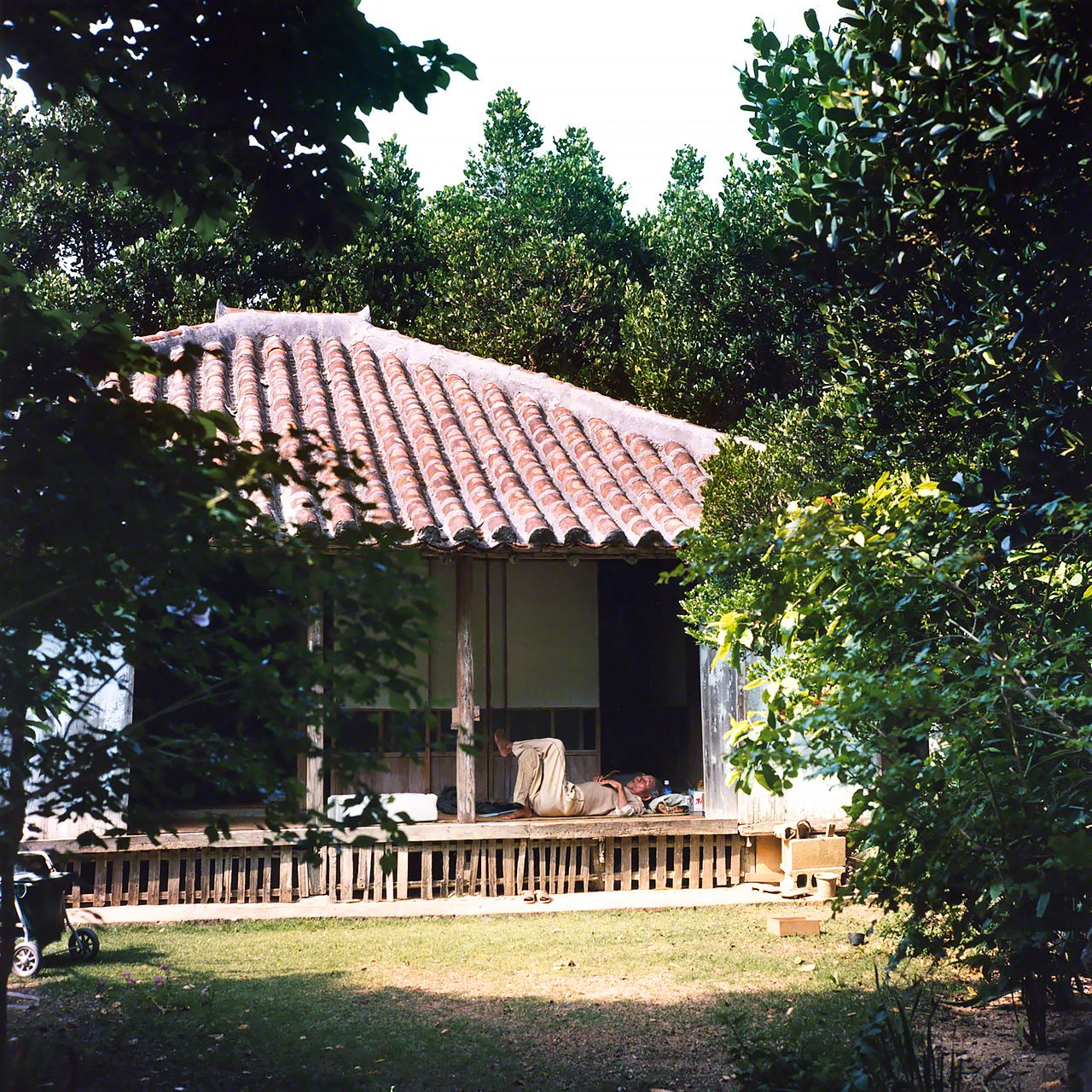 A traditional house on Haterumajima.