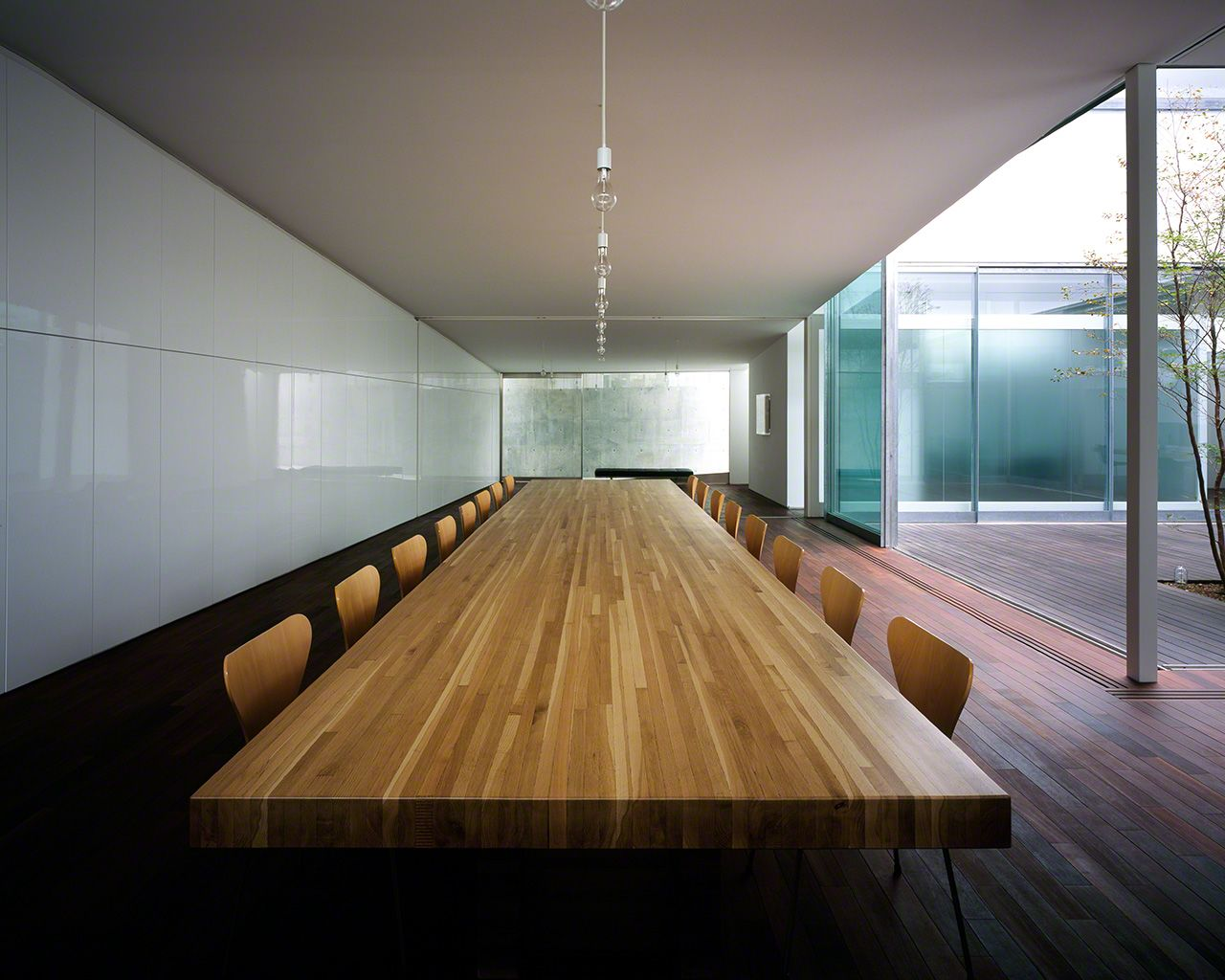 Conference room in Satō Kashiwa's studio, Samurai, in Tokyo's Shibuya district.