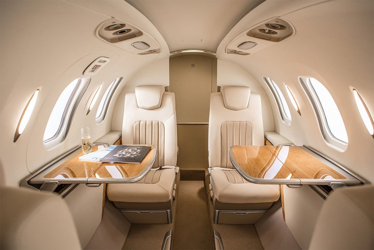HondaJet's cabin interior. (Photo courtesy of Honda)