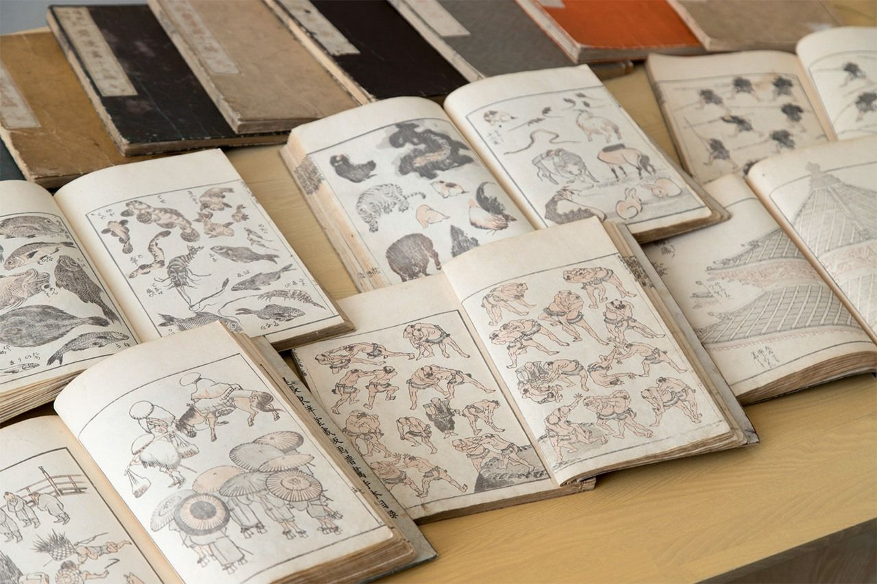 The woodblock prints of Hokusai, including the sketchbooks known as Hokusai manga, shown here, had a major impact on the Impressionist painters.