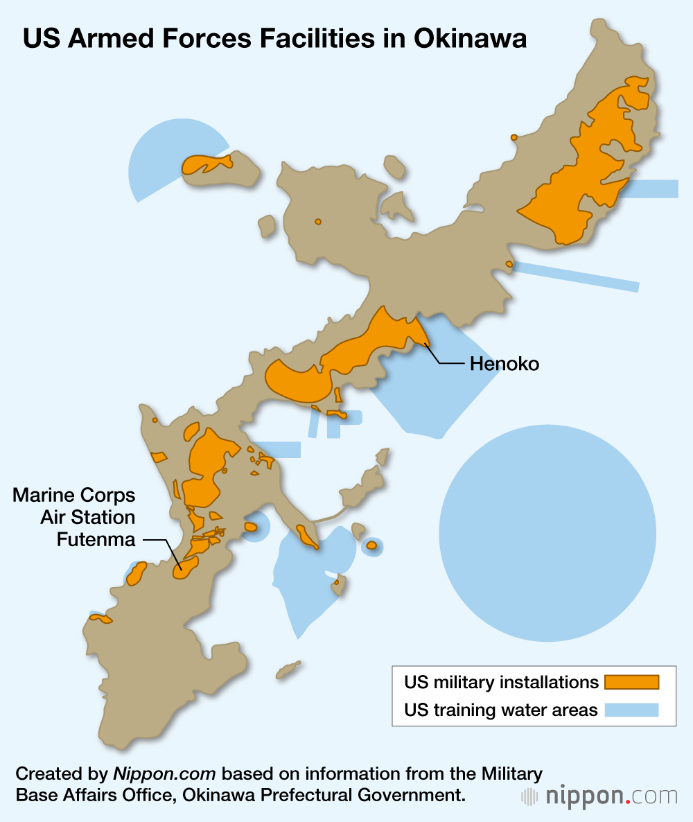 Marine Base In Japan Map.Okinawans Oppose Government Backed Us Base Move In Nonbinding