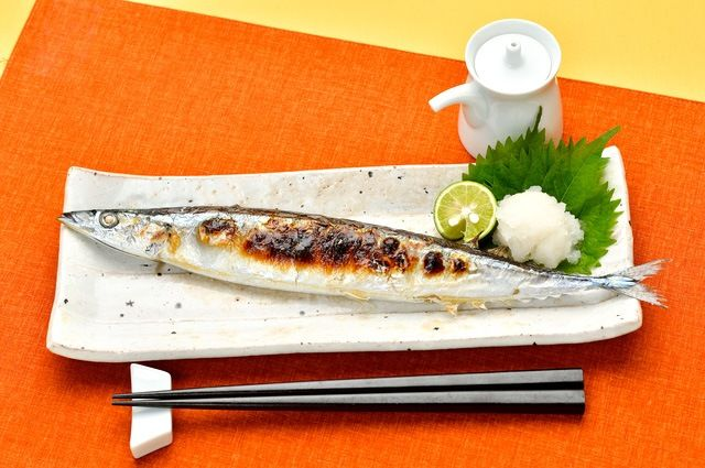 A time-honored way of enjoying saury.