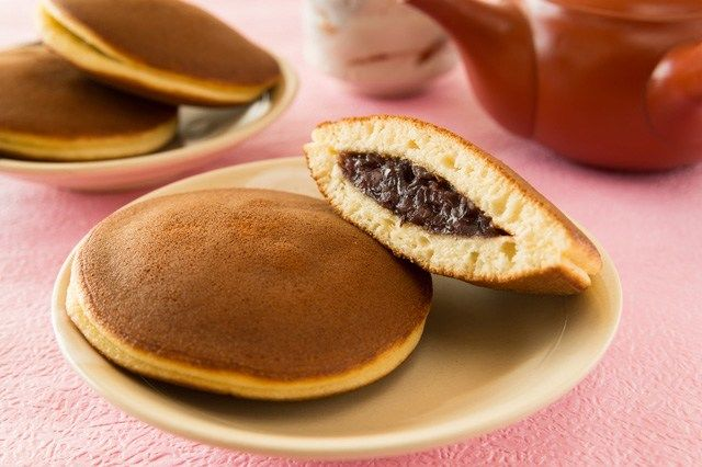 Dorayaki can be enjoyed with a cup of coffee, tea, or even milk.