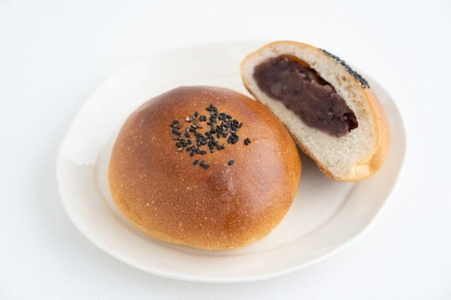 Anpan is a bread roll filled withed bean paste.