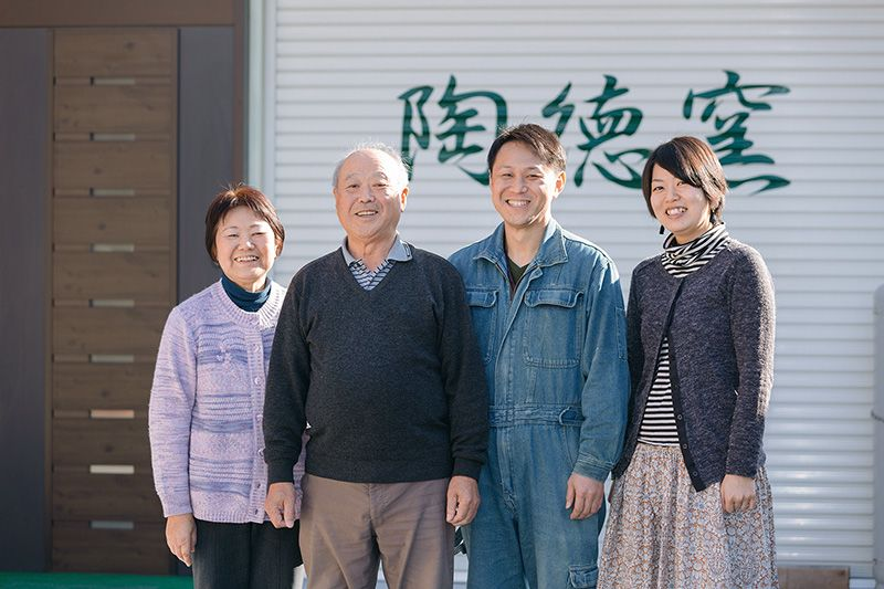 The Sue family, left to right: Chieko, Tomiji, Masanori, and Kaori.