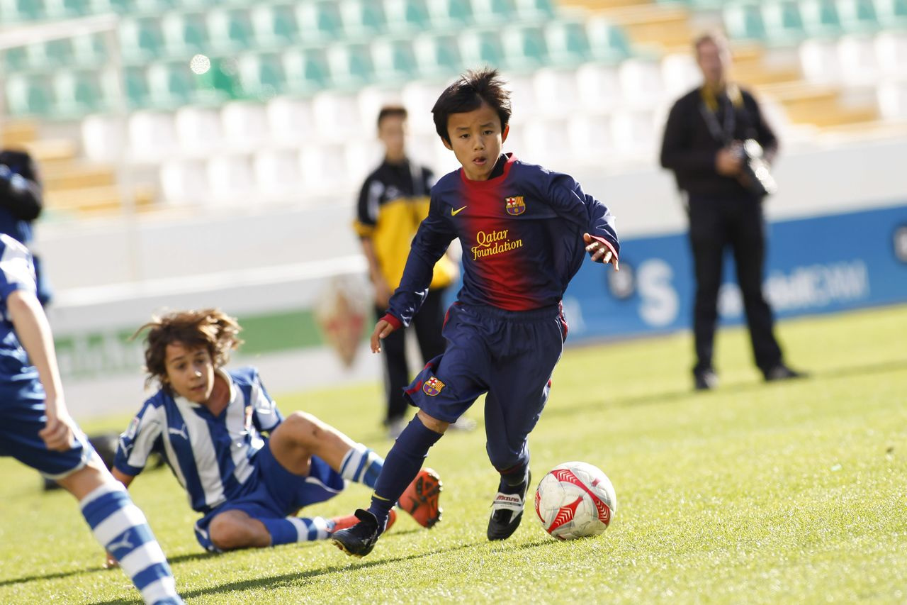 Kubo during his time at FC Barcelona's youth academy. (© Aflo)