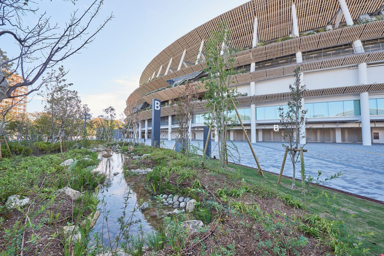 A total of 47,000 trees, representing 130 different species, have been planted around the stadium. (Photo courtesy JSC)