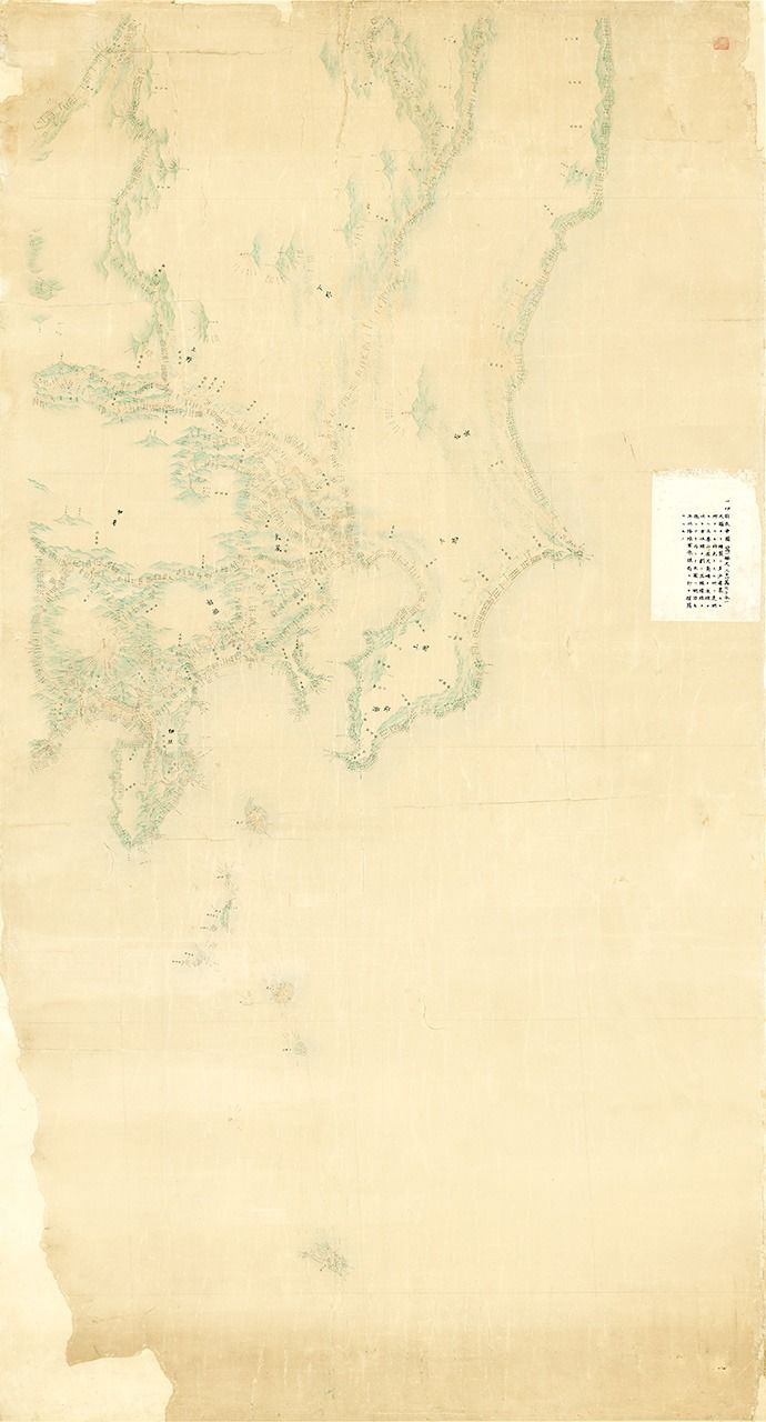 Inō's map of the Kantō region, part of an eight-map series covering Japan drawn to 1:210,000 scale. (Courtesy of the Geospatial Information Authority of Japan)