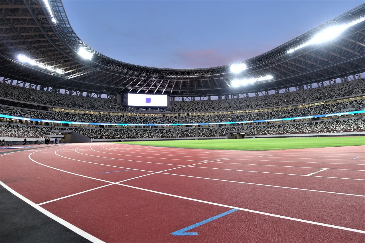 The track of the new Olympic Stadium.
