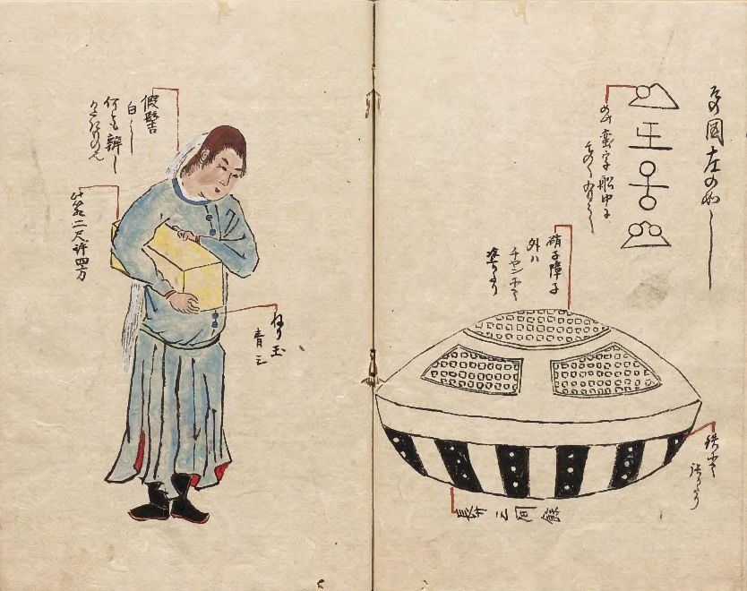 From Hirokata zuihitsu (Essays by Hirokata; 1825) by shogunate retainer and calligrapher Yashiro Hirokata, who was also a member of the Toenkai circle. (Courtesy National Archives of Japan)