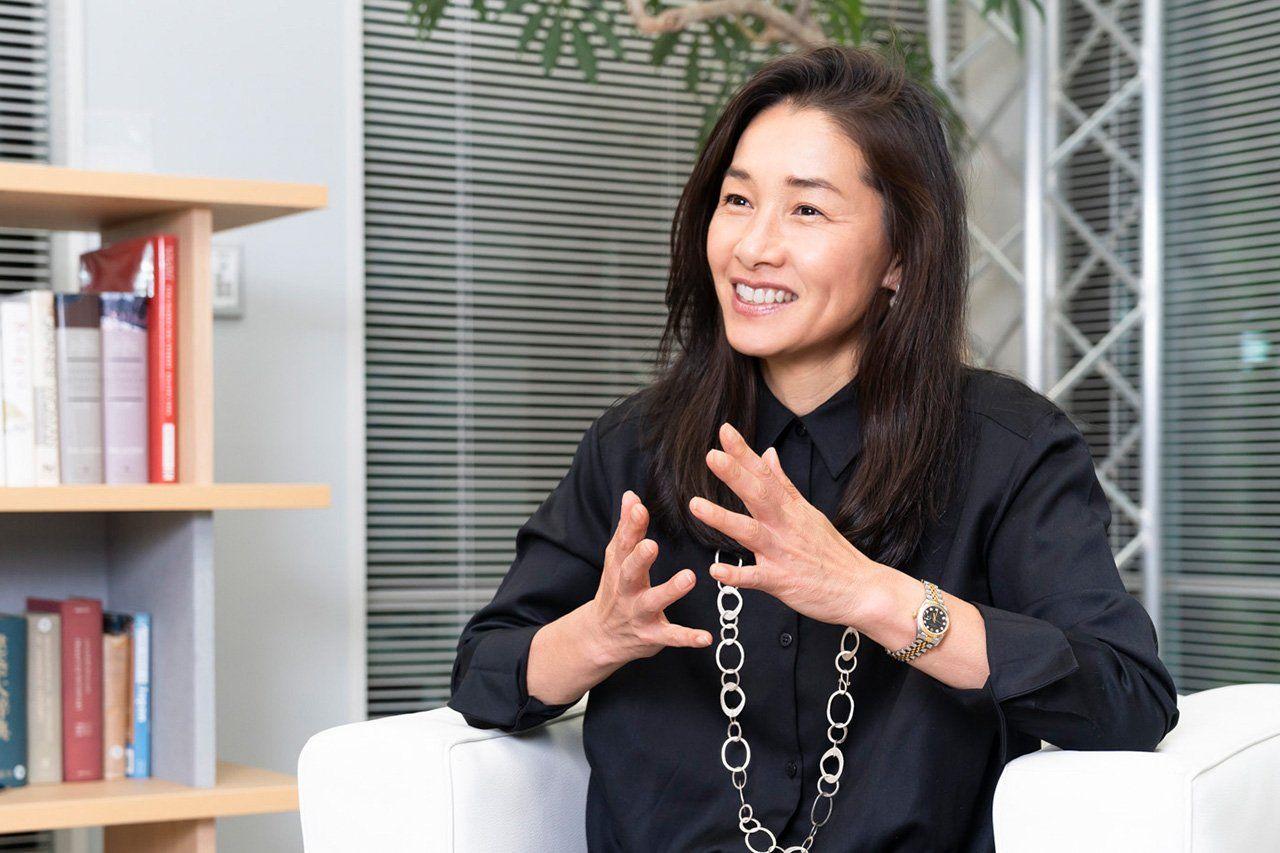 Former Japanese tennis star Date Kimiko. (© Uwadaira Tsunebumi)