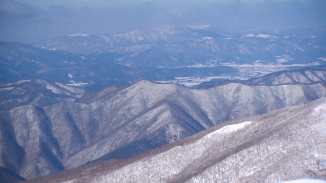 The Kitakami Mountains seen from Mount Goyō.