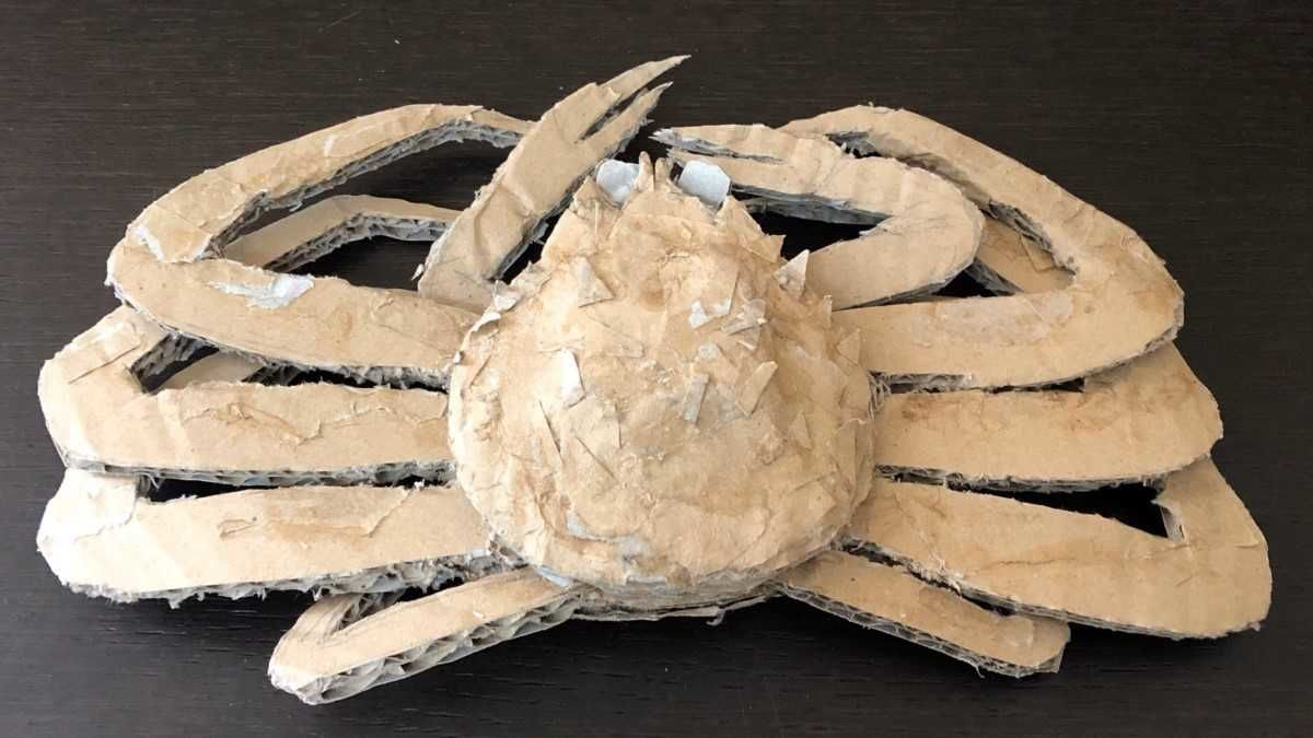 The artist's debut work, a magnificent crab.