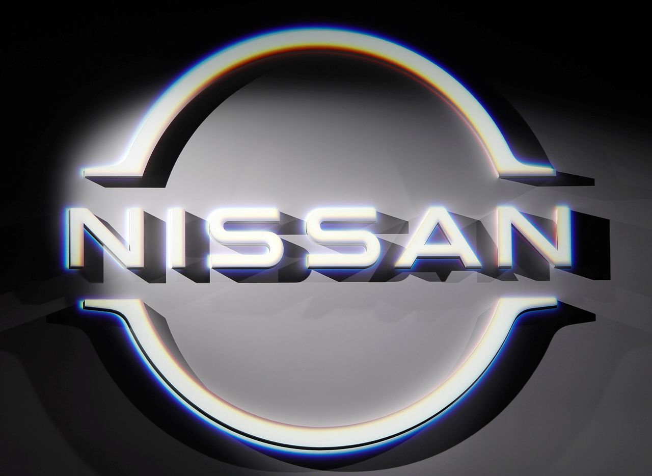 FILE PHOTO: The brand logo of Nissan Motor Corp. is displayed during a press preview in Yokohama, south of Tokyo, Japan July 14, 2020. REUTERS/Issei Kato