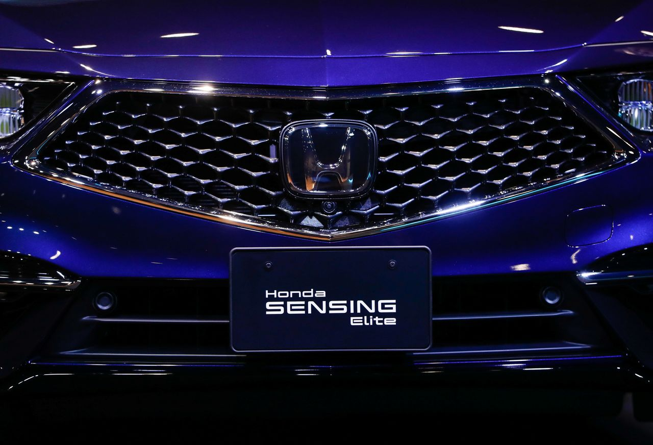 The Honda Motor Co. Ltd's all-new Legend sedan, equipped with level 3 autonomous driving technology, is seen during an unveiling in Tokyo, Japan March 4, 2021. REUTERS/Issei Kato