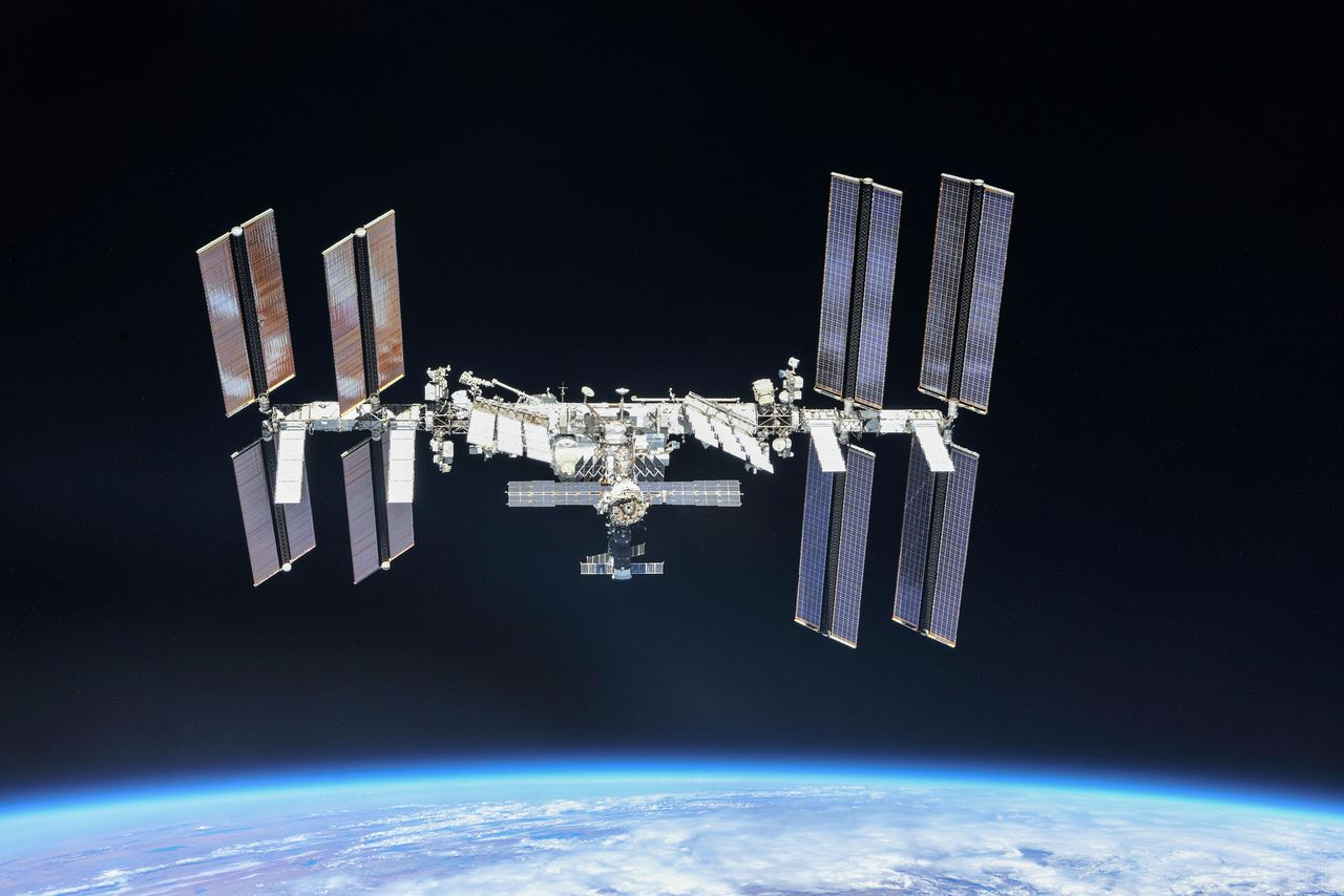 The International Space Station (ISS) photographed by Expedition 56 crew members from a Soyuz spacecraft after undocking, October 4, 2018. NASA astronauts Andrew Feustel and Ricky Arnold and Roscosmos cosmonaut Oleg Artemyev executed a fly around of the orbiting laboratory to take pictures of the station before returning home after spending 197 days in space. Picture taken October 4, 2018. NASA/Roscosmos/Handout via REUTERS