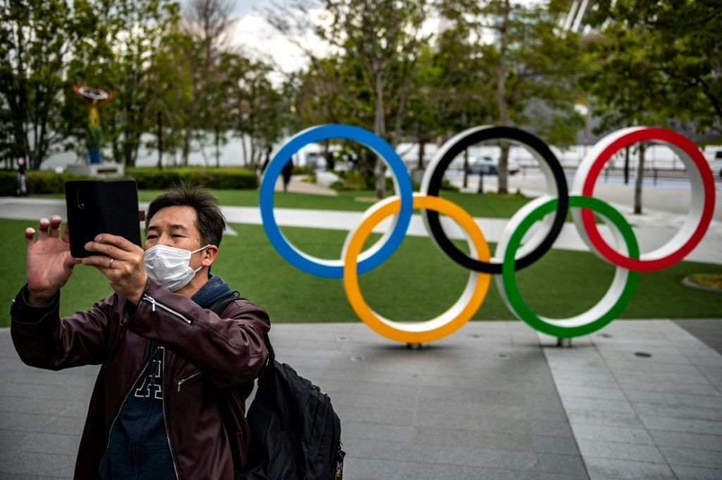 Overseas fans will be barred from the Olympics for the first time. AFP/File