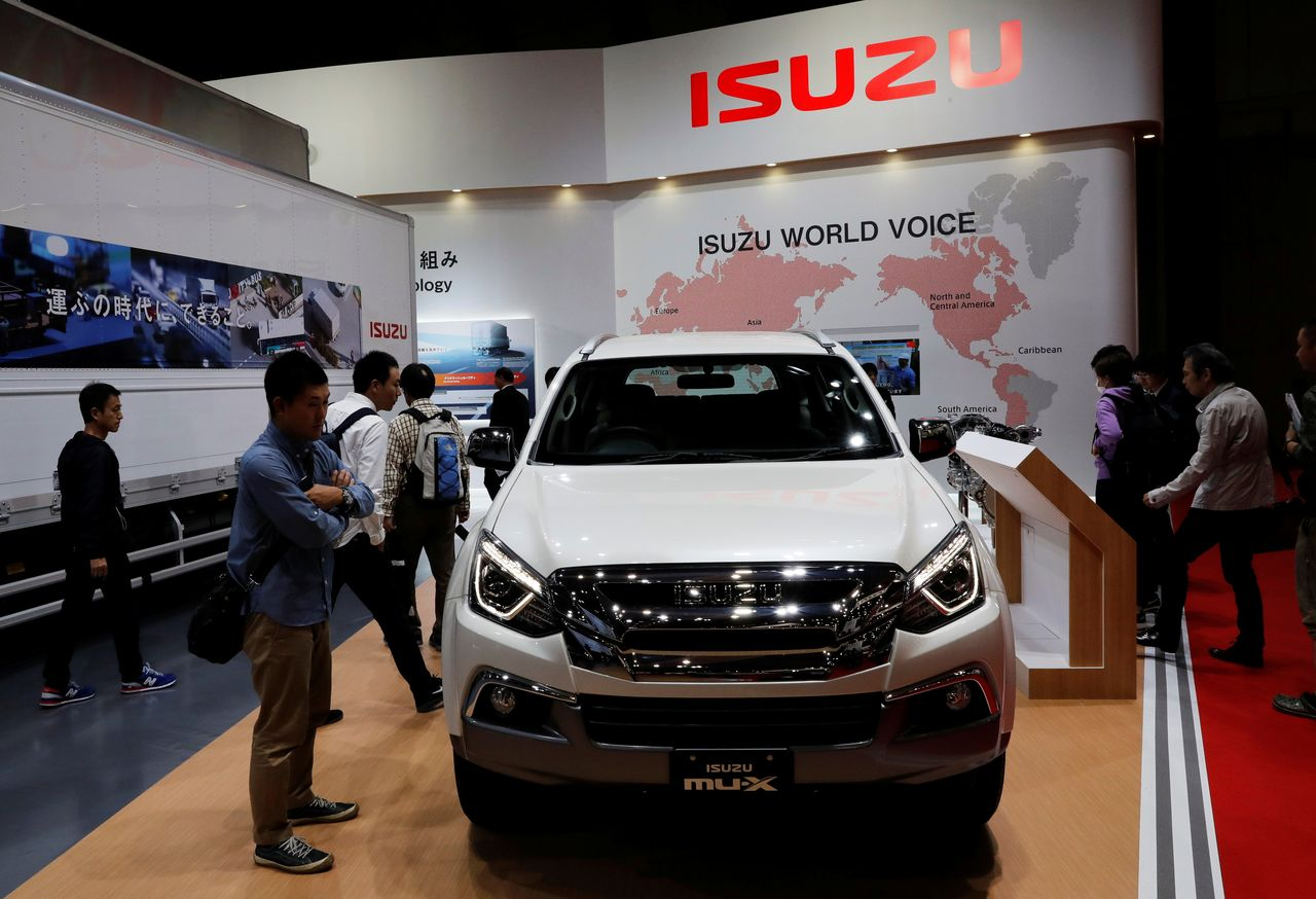 FILE PHOTO: Isuzu Motors' MU-X is pictured at the 45th Tokyo Motor Show in Tokyo, Japan October 27, 2017. REUTERS/Kim Kyung-Hoon