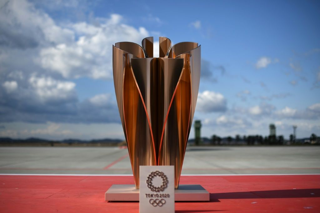 The 'celebration cauldron' weighs around 200 kilogrammes and stands 1.5 metres tall. AFP/File