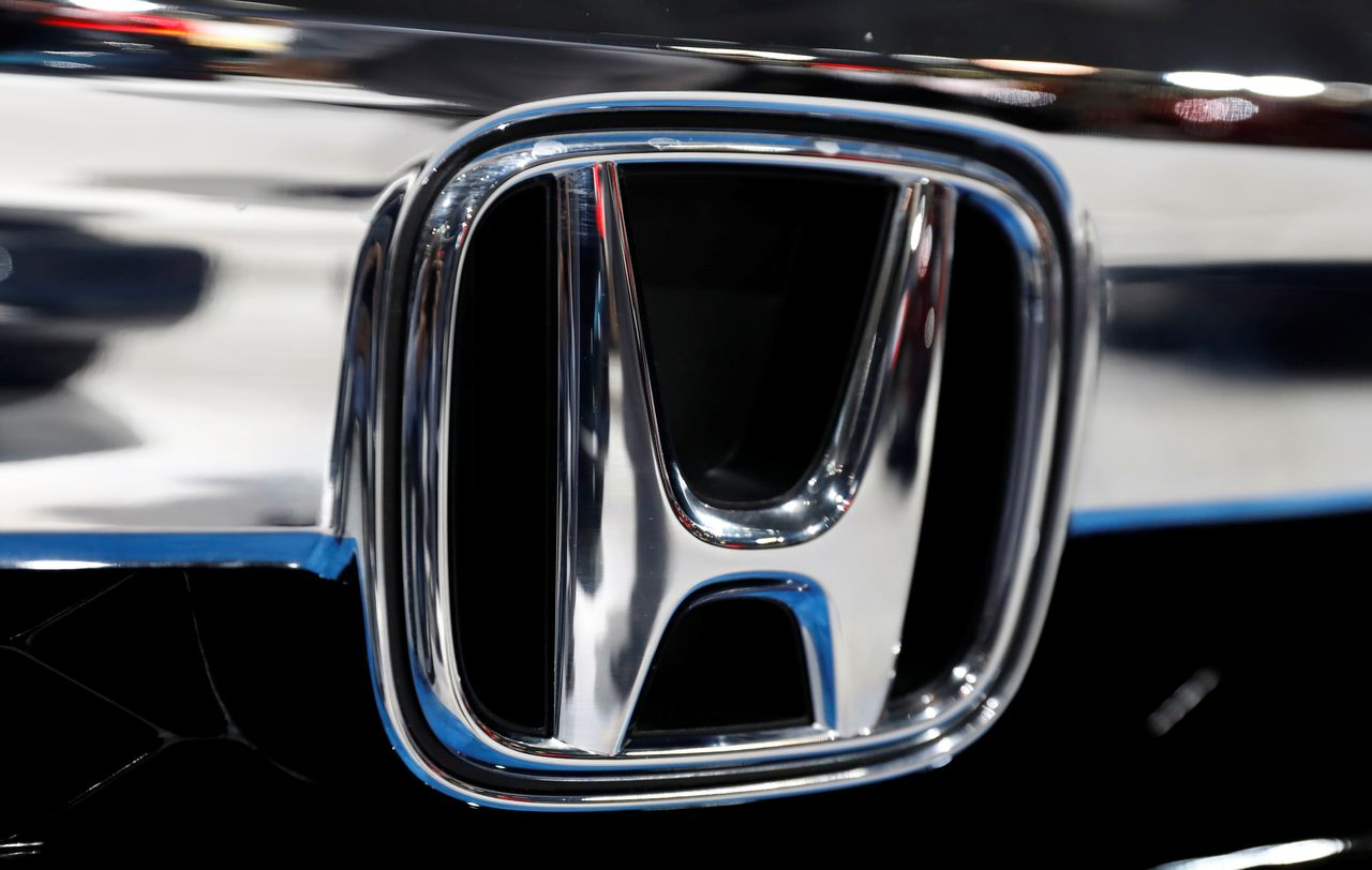 FILE PHOTO: The Honda logo is seen on a Honda car displayed at the New York Auto Show in the Manhattan borough of New York City, New York, U.S., March 29, 2018. REUTERS/Shannon Stapleton/File Photo