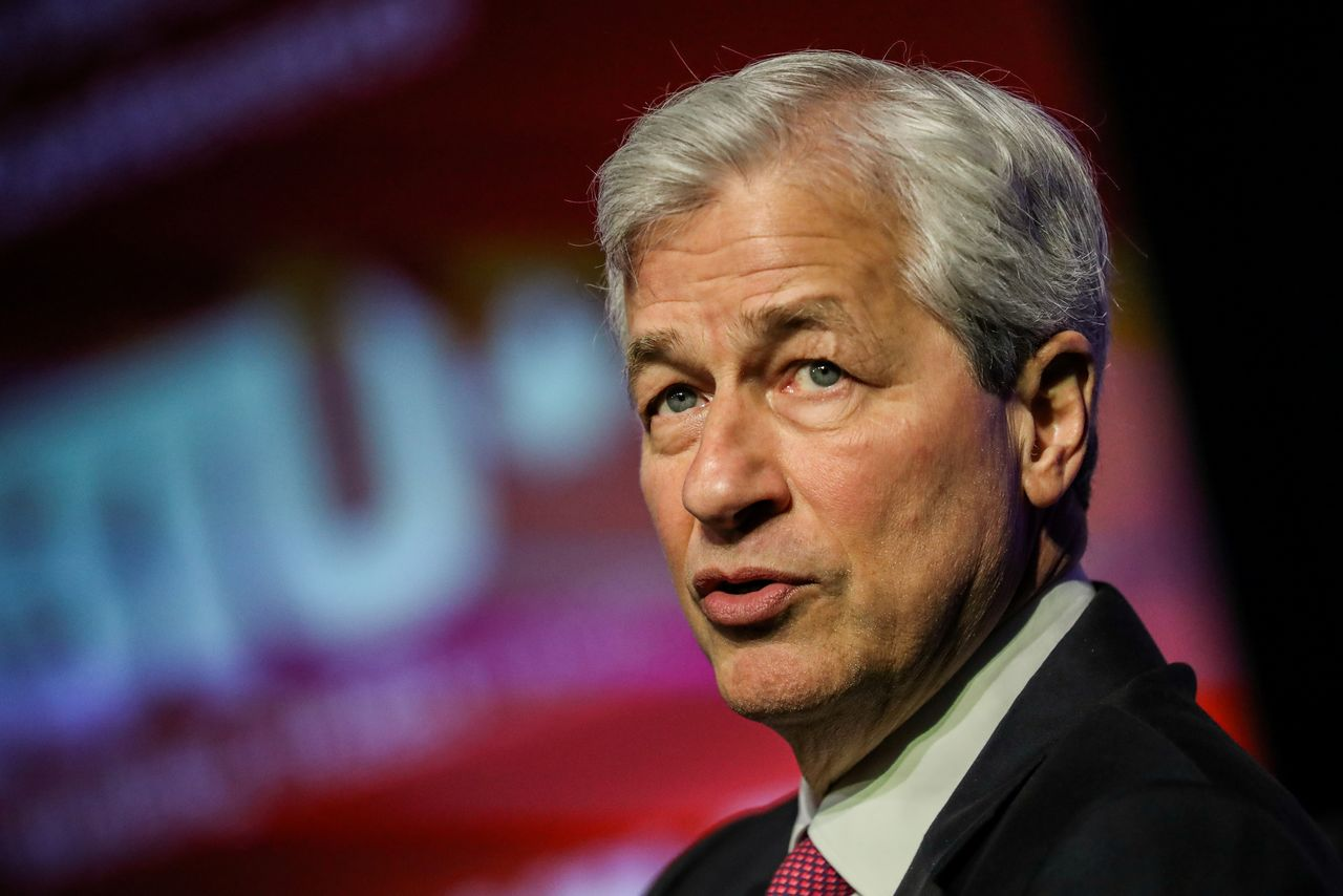 FILE PHOTO: JPMorgan Chase CEO Jamie Dimon speaks at the North America
