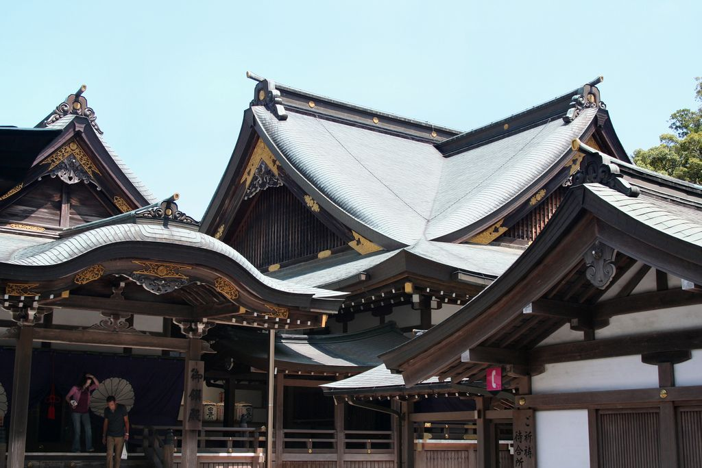 The Kaguraden, or Hall for Special Prayer, located outside the shrine's main sanctuary.