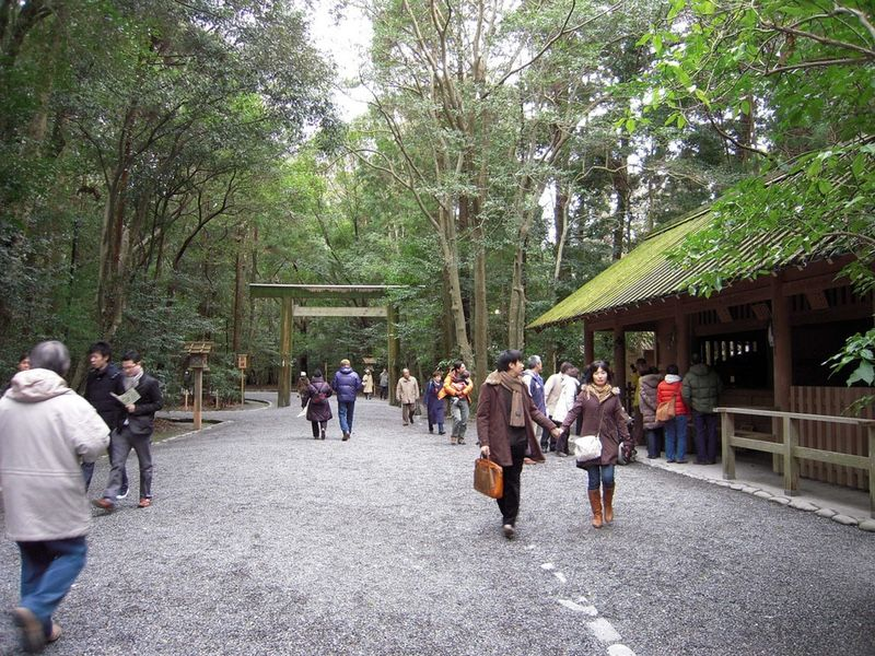 Visitors to the Gekū in Ise are a far cry from the massive crowds that once made the pilgrimage.