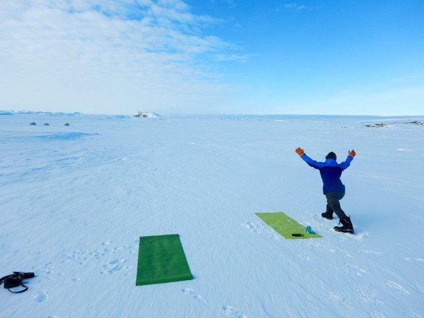 "Taking the ""do yoga anywhere"" mantra literally, Watanuki and her colleagues gave it a go under the Antarctic sky, only to find that the mats froze hard in a matter of minutes."