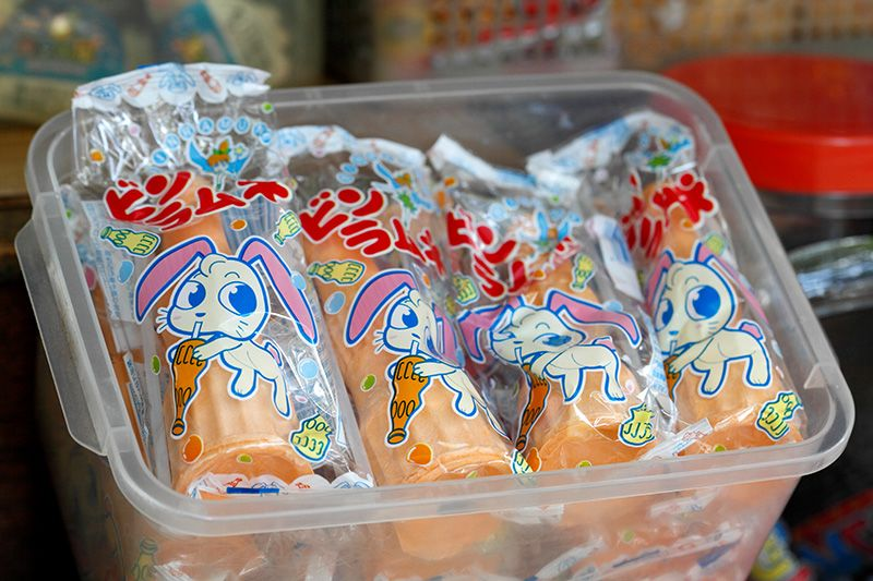 """Ramune"" candy in a plastic bottle"