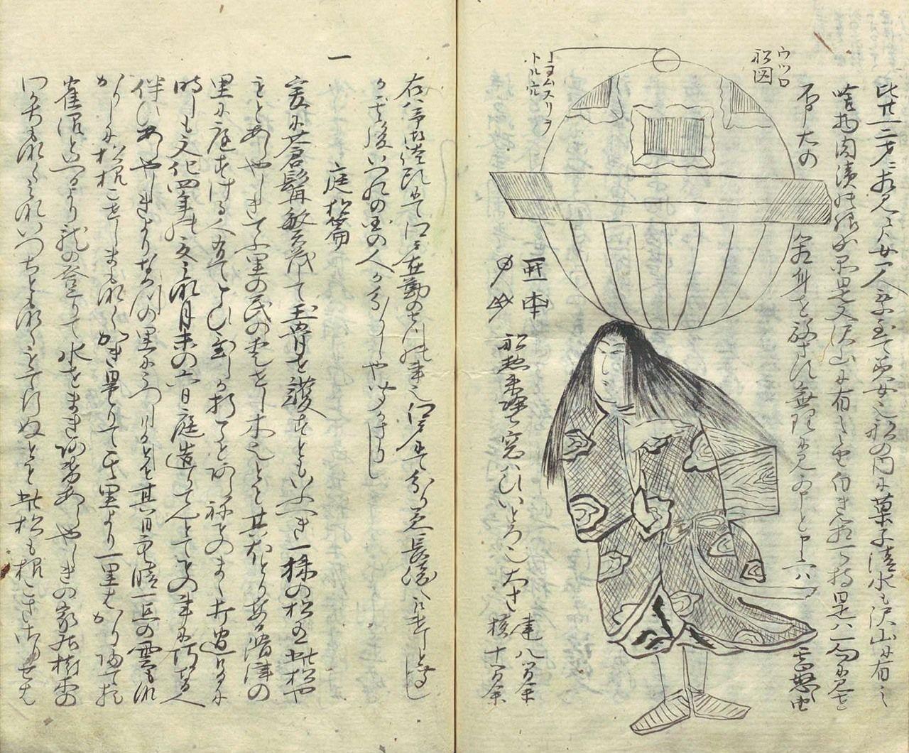 De Ōshuku zakki (aprox. 1815), escrita por Komai Norimura, vasallo de Matsudaira Sadanobu (Biblioteca Nacional de la Dieta)