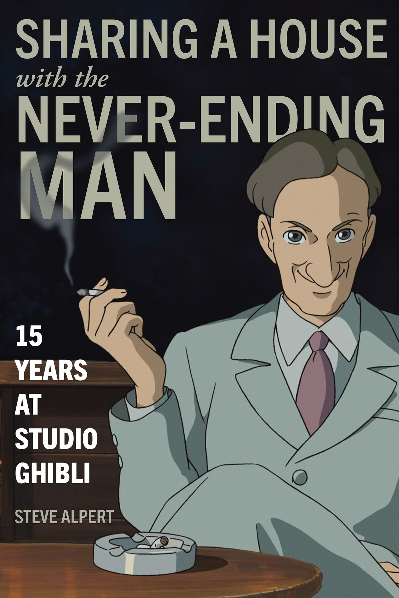 Sharing a House with the Never-Ending Man: 15 Years at Studio Ghibli (Compartir una casa con el hombre interminable: 15 años en Studio Ghibli), de Steve Alpert, fue publicado el 16 de junio de 2020 por la editorial Stone Bridge Press.