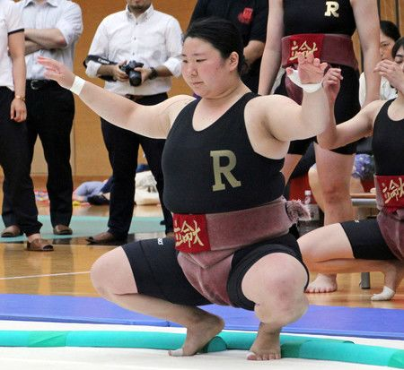 Kon Hiyori, lutteuse de sumo du club de l'Université Ritsumeikan (photo de juillet 2018)