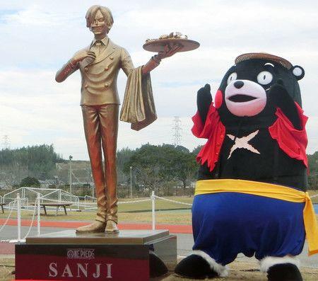 La Statue De Sanji De One Piece A Surgi A Kumamoto Le 7 Decembre Nippon Com