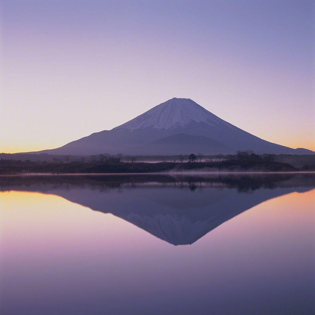 11. 富士山倒影。 3月。
